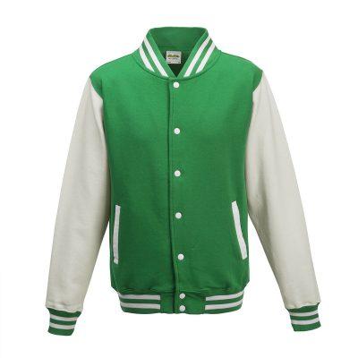 Felpa-Baseball-Verde-Bianco