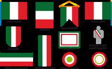 bandiera Italia per logo
